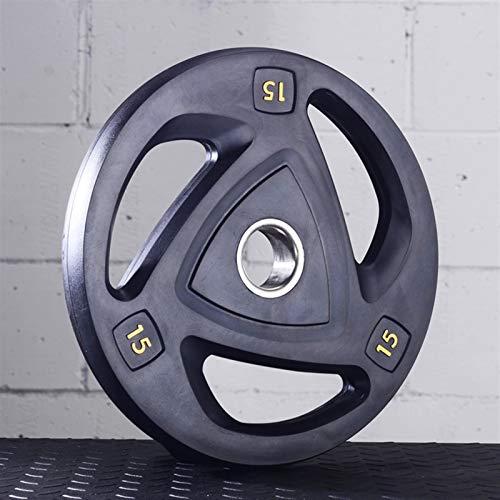 Ownlife 2,5 kg / 5 kg / 10 kg / 15KG / 20KG / 25KG Gewicht Teller Hantel Hantelscheiben 2-Inch-Center-Loch-Platte for Gewicht Crossfit Bodybuilding, Einzel (Größe : 15KG)