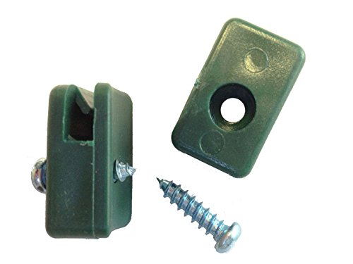 Zaun-Nagel Spanndrahthalter PVC 30 Stk inkl. Bohrschrauben