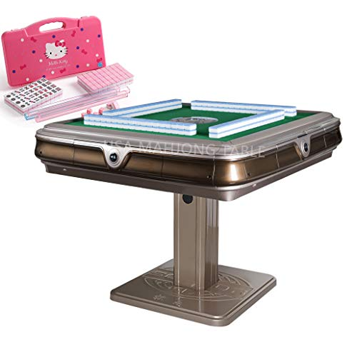 Solor Unfolding Automatic Mahjong Table with 4 USB Chargers - Chinese/Philippine Style w 2 Sets of 152pcs 44mm Numbered...