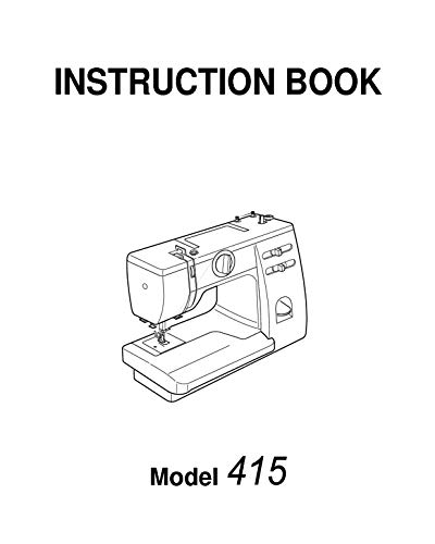 Janome Spare Part 415 Sewing Machine Instruction Manual Reprint