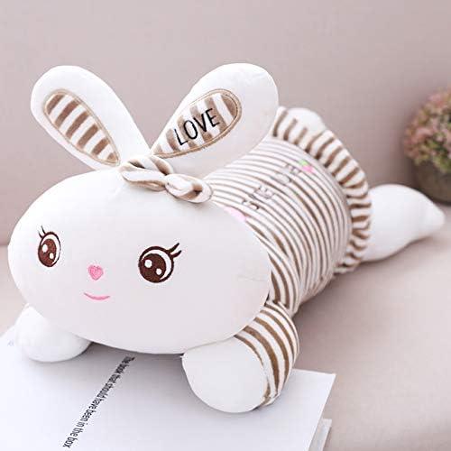 marca de lujo ZYYJG Adornos Creativo Regalo de cumpleaños cumpleaños cumpleaños Simulación Conejo Peluche Juguete Almohada marrón 55 cm  cómodamente