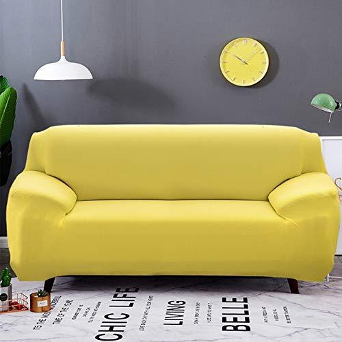 WYSTLDR Wohnzimmer einfarbige Stretch-Sofabezug, elastische Sofabezug, Haushaltsgegenstände L-förmiger Sesselbezug gelb 45 * 45CM Kissenkern 2