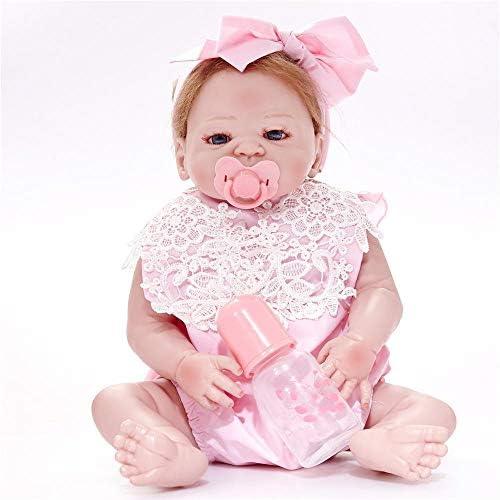 Hongge Reborn Baby Doll,Lebensechte Reborn Baby Puppe Sieht real Neugeborenes Baby Reborn Puppe Kinderspielzeug 58cm