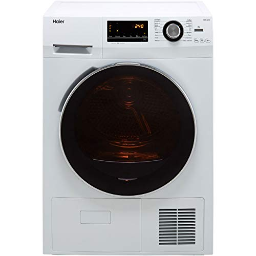 Haier HD90-A636 9KG Freestanding Heat Pump Tumble Dryer with LED Display, 9Kg Load, White