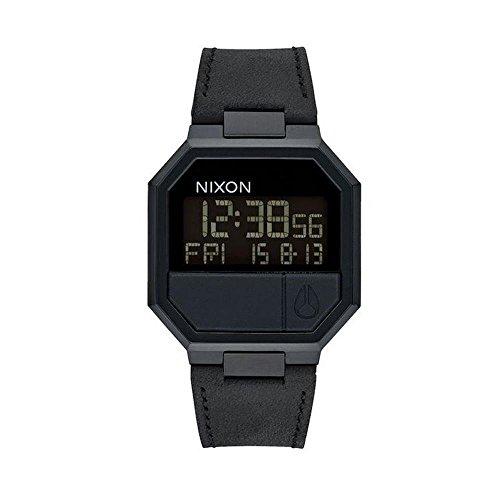 Nixon Herrenuhr Digital Quarz mit Lederarmband – A944001-00