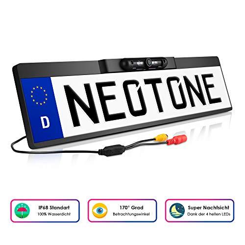 NEOTONE NTK-180Z universelle Rückfahrkamera in Kennzeichenhalterung | 170° Weitwinkelobjektiv | IP67 Feuchtigkeitsschutz | Höchste Qualität |