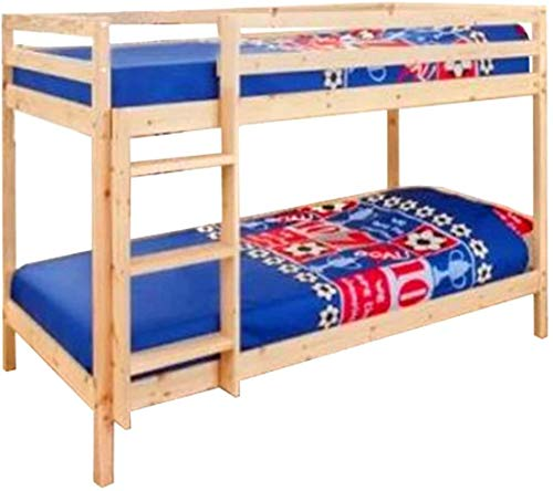 3ft single natural pine solid bunk bed wooden space saving