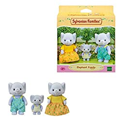 Elephant Family posable collectable figures Three piece set: Father, mother and baby Dressed in removable fabric clothing Stimulates imaginative role-playing by children Suitable for ages three years and above