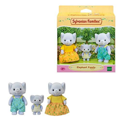 Sylvanian Families - Le Village - La Famille Éléphant - 5376 - Famille 3 Figurines - Mini Poupées