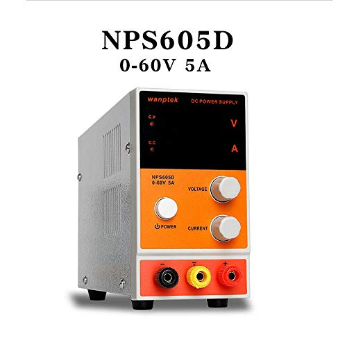 Labornetzgerät HaroldDol NPS605D 0-60V 0-5A DC Regelbar Netzgerät Stabilisiert Digitalanzeige Labornetzteil Netzteil Strommessgeräte