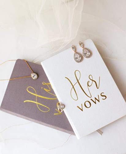 Wedding Vow Books His and Hers Hardcover Linen Wedding Vow Books Wedding Keepsake Wedding Journal