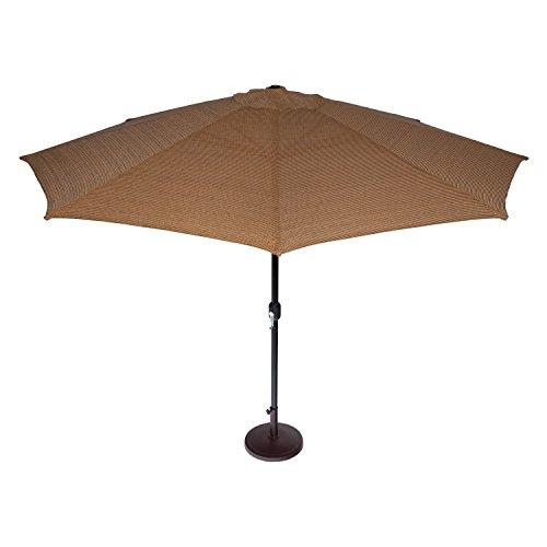 Coolaroo Market Umbrella, Patio Shade Umbrella, 90% UV Block, Round 11' with Adjustable Tilt,...