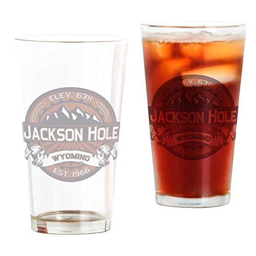 CafePress Jackson Hole Vibrant Pint-Glas durchsichtig