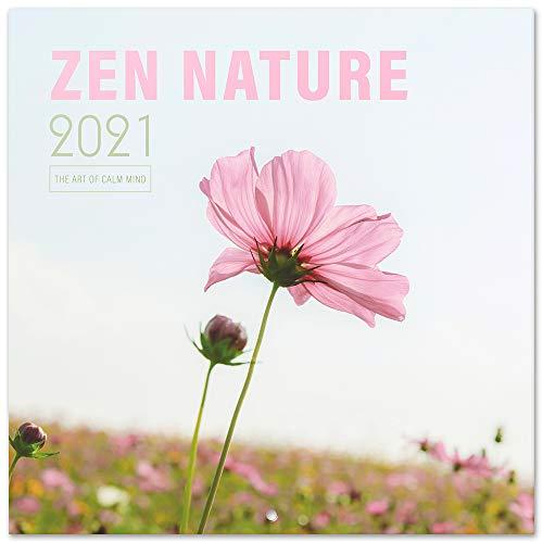 Grupo Erik Calendario 2021 da Muro Zen Nature, calendario 2021 da parete, 16 mesi, 30x30 cm