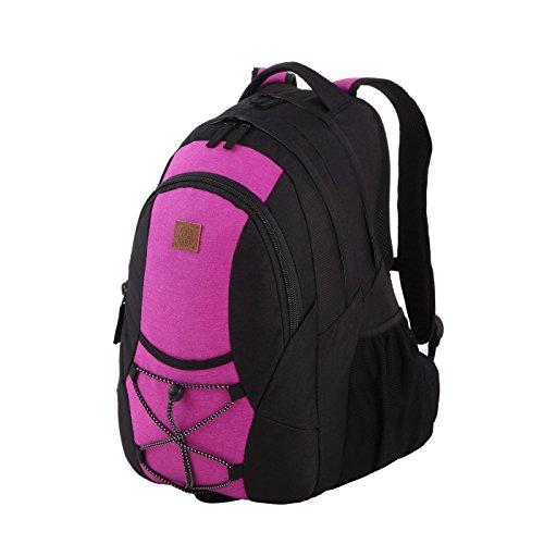 Rada Rucksack RS/3, Freizeitrucksack mit 39 Liter Volumen, DIN A4 Ordner kompatibler Schulrucksack für Mädchen und Jungen, wasserabweisender Daypack, Damen und Herren, für Freizeit und Urlaub (pink)