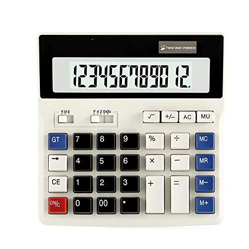 XBAO Standard rekenmachine, LCE groot display, Dual Power Supply, logo, kantoorrekenmachine