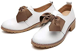Casual Shoes Bowknot Wild Comfortable Casual Shoes for Women (Color:Brown Size:35) Casual Shoes
