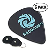 ラドウィンプ Radwimps ロゴ ギターピック 6枚/セット ウクレレ エレキギター 3種厚さ プリントデザイン お洒落 目立ち バリ無し 尖らず