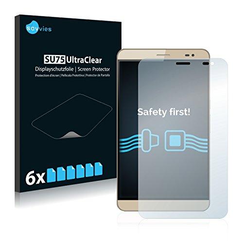 Savvies 6X Schutzfolie kompatibel mit Huawei MediaPad X2 Bildschirmschutz-Folie Ultra-transparent