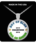 22 INCH chain that easily fits around anyone's neck. HANDMADE in the USA. Every purchase helps support local jobs. The design itself is printed with the highest quality sublimation printers and inks available and then handmade into a beautiful neckla...