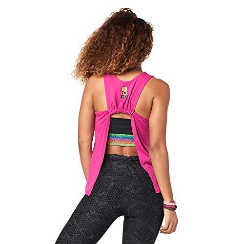 Zumba Sexy Backless Top Deportivo Dance Fitness Tank Top Mujer de Entrenamiento, Love Fuchsia, S