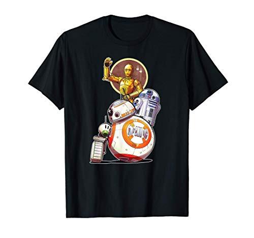 Star Wars Rise of Skywalker Droids Collage T-Shirt