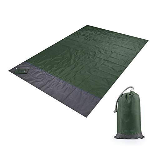 Manta de Picnic 2m * 1.4M Manta de playa a prueba de agua Matada de picnic portátil al aire libre Camping Tierra colchón Colchón Camping Cama Cama Cama de dormir ( Color : Green , Size : 200x210cm )