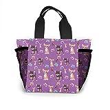 Cute Teacup Chihuahuas Bolso de mujer moda bolsa reutilizables para la compra luz bolsos de mano alta capacidad...