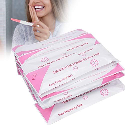 Nannday 【Nauwkeurige zwangerschapstest, 20 stuks HCG-zwangerschapstest voor vrouwen, nauwkeurige urinezwangerschapstest voor vroegtijdige herkenning thuis
