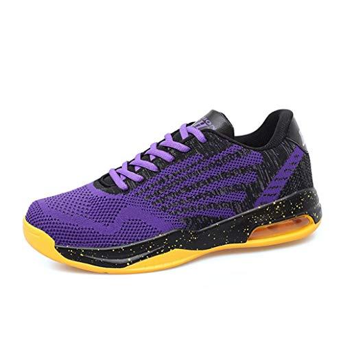 LanfengEU Männer Trainer einfarbig atmungsaktiv Low Top Mesh Sneakers Outdoor Anti Rutsch Casual Walking Sport Laufen Basketballschuhe