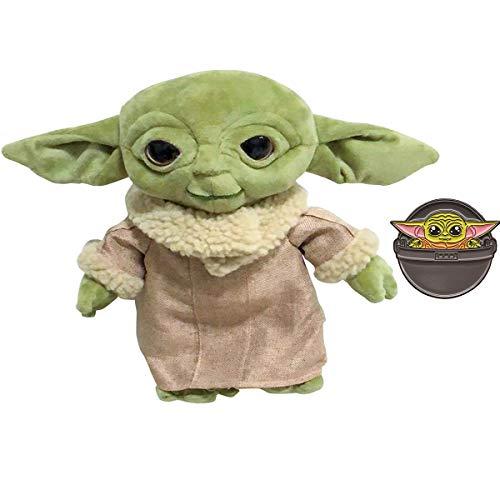 Jacos Baby Yoda Plüschtier Das Kinderspielzeug Yoda Figur Puppen für Kinder mit Emaille Pin