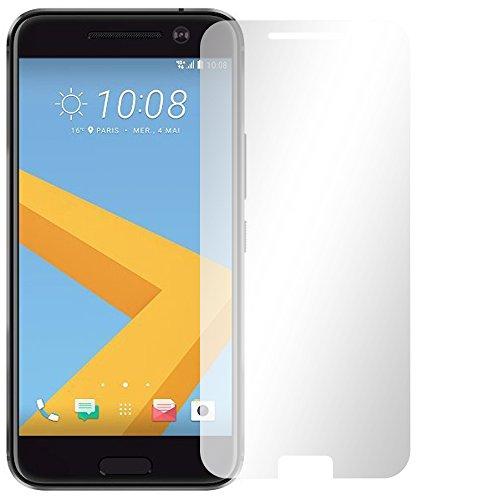 Slabo 2 x Bildschirmfolie für HTC 10 Bildschirmschutzfolie Zubehör (verkleinerte Folien, aufgr& der Wölbung des Bildschirms) Crystal Clear KLAR - Made IN Germany