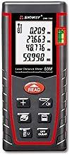 SNDWAY Laser Distance Measure SW-T60 Digital Laser Rangefinder 60M Distance Meter Tape Measure Area Volume with Bubble Lev...