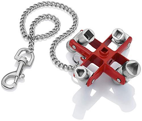 KNIPEX Chiave universale per quadri ed armadi elettrici per tutti i sistemi di chiusura più comuni (90 mm) 00 11 06 (confezione self-service/blister)
