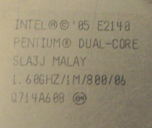 E2140 INTEL E2140 INTEL E2140