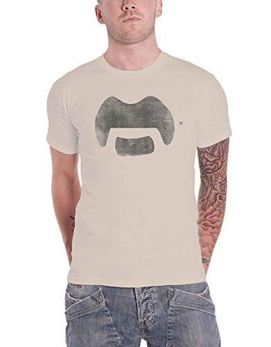 Frank Zappa T Shirt Tache Logo Nue offiziell Herren Natural