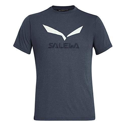 Salewa Solidlogo Dry M S/S, Maglietta Uomo, Blu (Ombre Blue Melange), 48/M