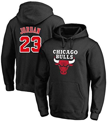 FMSports Unisex Pulloverhoodie - NBA Chicago Bulls # 23 Michael Jordan T-Shirt Hoodies-Mantel-Jacke Langarm Klassische Tops,Schwarz,XXXL~190~195CM
