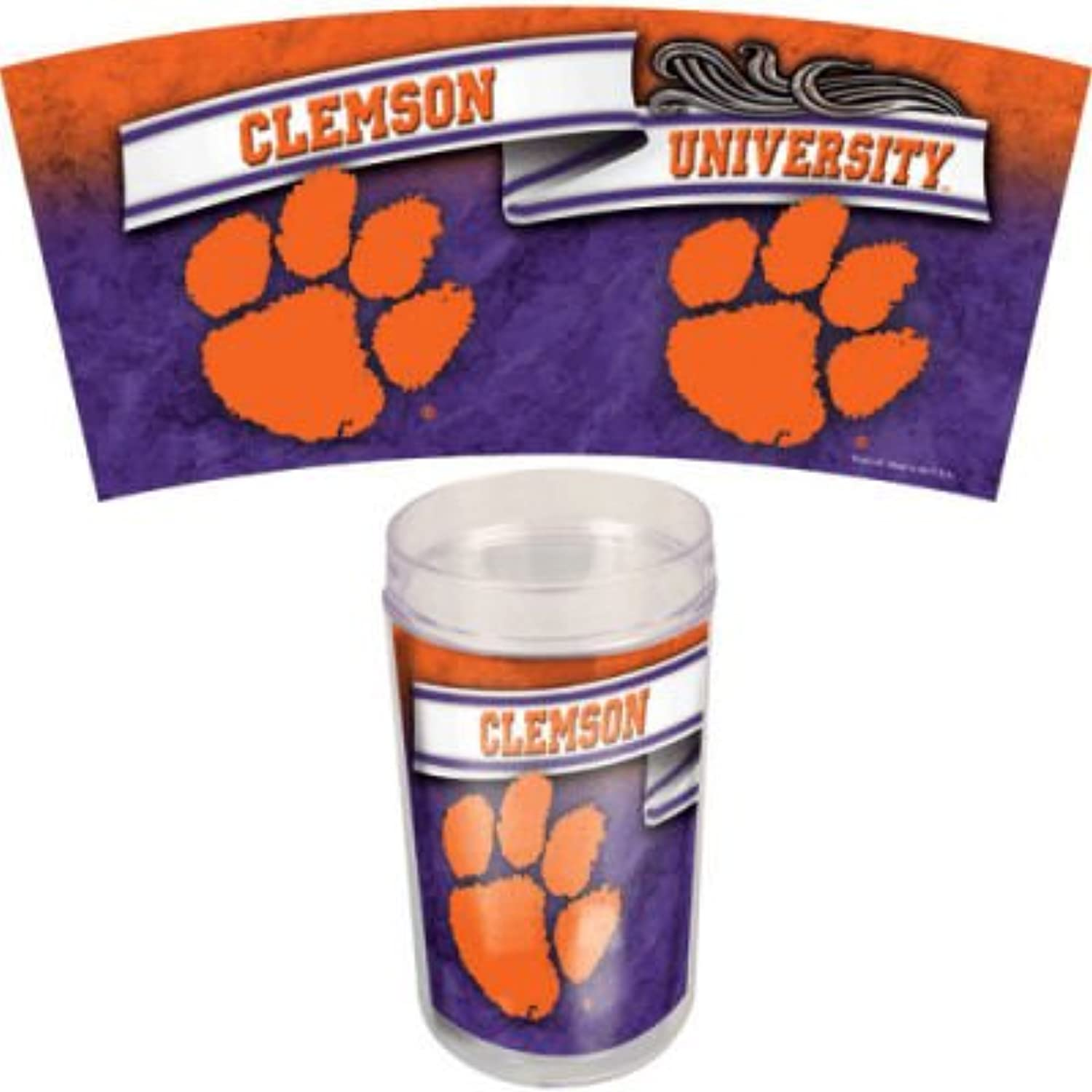 Wincraft NCAA Clemson University Tumbler, 4Set, 16Ounce