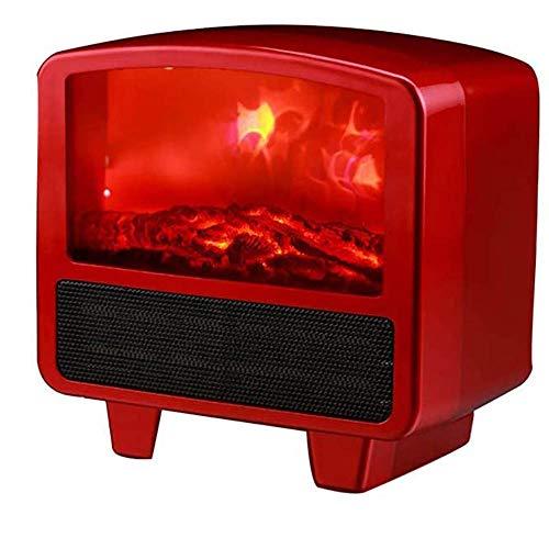 Calentador De Estufa Portátil Mini Lámpara De Chimenea Eléctrica LED Efecto De Registro De Llama Ajuste De Temperatura Protección Contra Sobrecalentamiento,Control Remoto Para Ajuste De Temperatura,B
