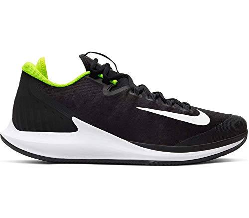 Nike Court Air Zoom Zero Cly, Zapatillas para Caminar para Hombre, Black/White-Volt, 45.5 EU