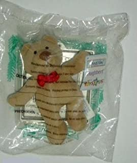 McDonald's 2001 Happy Meal Toy Toys R Us : Animal Alley # Hughbert The Plush Teddy Bear with Ornament Frame - Christmas Collectible