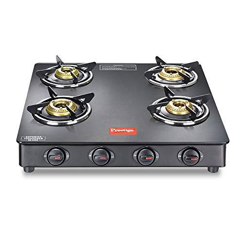 Prestige Magic GTMC 04 SQ Gas stove, Black, 4 Burners