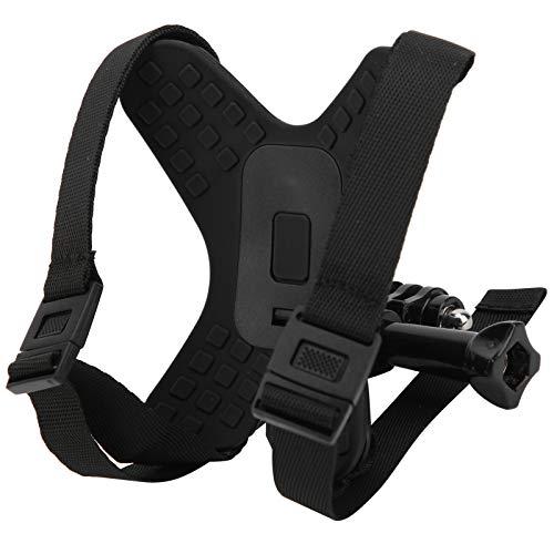 Supporto per mento per casco, kit di montaggio per mento per casco da motociclista Supporto per mentoniera per action cam a pieno facciale per GoPro Hero 9/DJI OSMO(Nero)