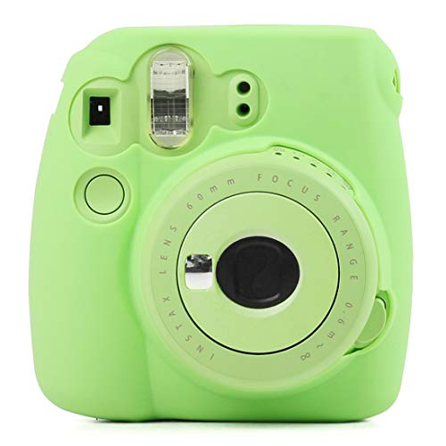 Funda protectora de silicona suave fluorescente for FUJIFILM instax mini 9 / mini 8+ / mini 8 Worry-Free Quality (Color : Green)