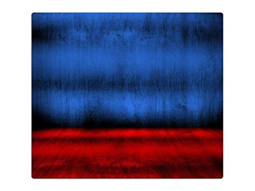 Herdabdeckplatte Schneidebrett Spritzschutz aus Glas HA660856534 Metalloptik Blau Rot Variante 1x Scheibe (1 Panel) für Küche, Grill-Profis und Dinner