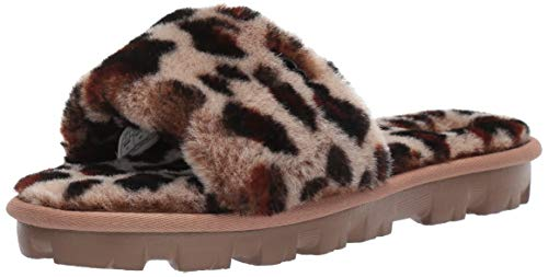 UGG Women's COZETTE Leopard Slipper, Amphora, 7 M US