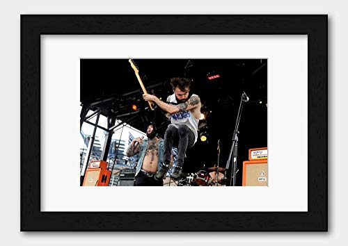 Gallows - On Stage At The Soundwave Festival 2013 Poster 2 Black Frame A3 (29.7x42cm) White