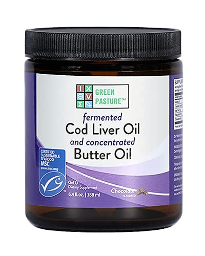 Green Pasture Fermented Cod Liver Oil/Concentrated Butter Oil - CHOCOLATE GEL - 6.4 fl oz