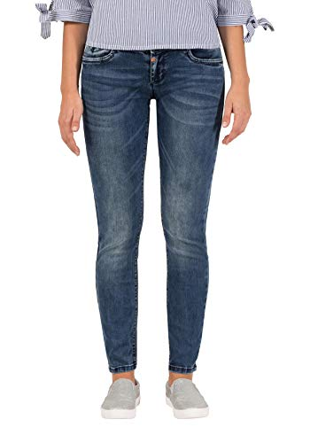 Timezone Damen EnyaTZ Slim Jeans, Blau (White Aged Wash 3201), W27/L34